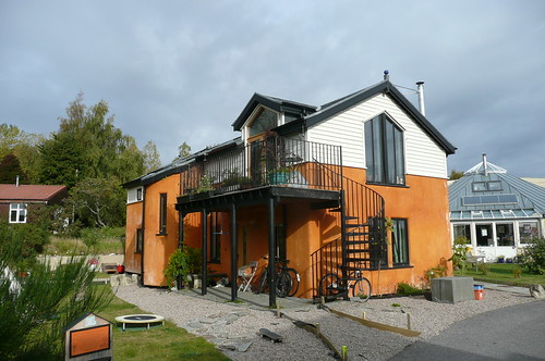 a self build house in the Field of Dreams, Findhorn Foundation