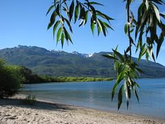 Playita en el lago Puelo