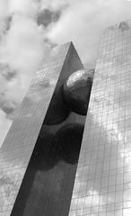 Rasgas Headquarters (III) (manuela.martin) Tags: blackandwhite bw architecture middleeast architektur doha qatar contemporaryarchitecture modernearchitektur rasgas rasgasheadquarters