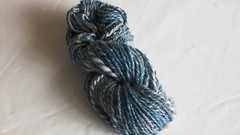 Corriedale fiber, Thunderhead colorway