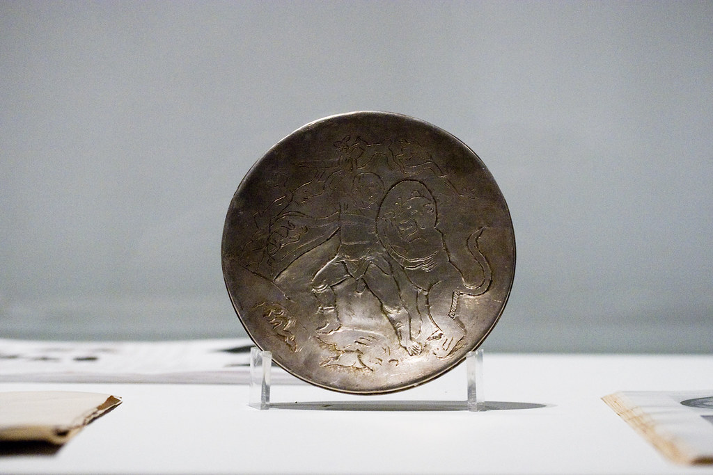 Fakes & Forgeries - Engraved plate with scenes of David killing the lion