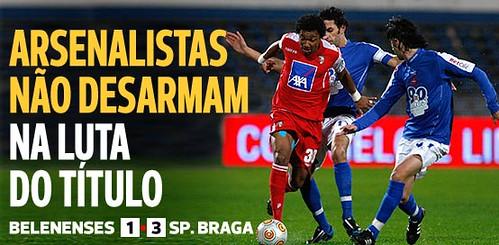 Belenenses 1 - 3 SC Braga ©abola