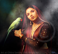 Art @ Chitra Santhe (Light and Life -Murali ) Tags: portrait india colour art watercolor painting sketch bangalore karnataka ckp explored chitrasanthe chitrasanthe2010 img2001p1sc