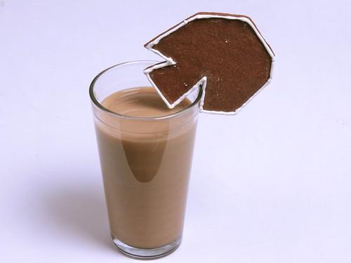 Café au lait, with asteroid