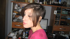 IMG_0864 (raiH enaS) Tags: haircut hair brittany shaved smoking short shorthair buzzednape