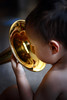 Reflections (ckg.photo) Tags: toddler ethan instrument trombone
