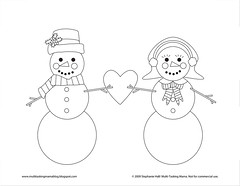 There's Snowbody Like You (Multi-Tasking Mama) Tags: christmas love snowman handmade embroidery patterns stitching handembroidery