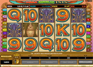 Mega Moolah Isis slot game online review