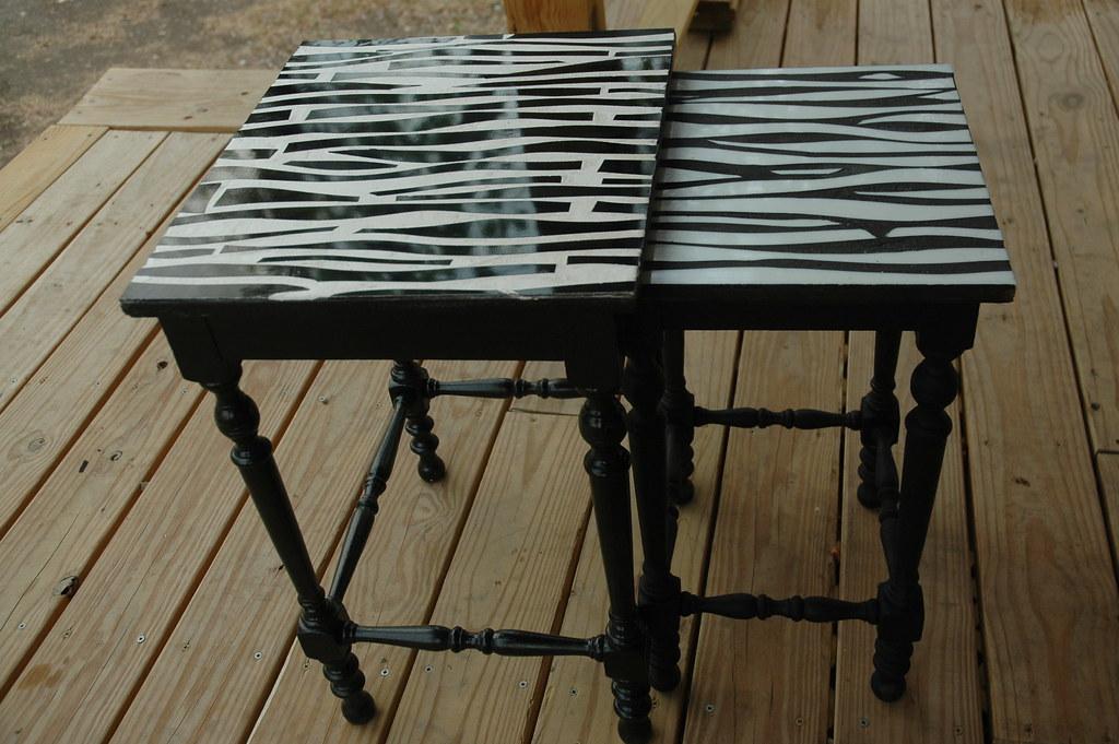 Zebra Nesting Tables