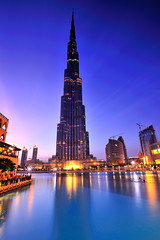 Dubai - Burj Khalifa ( Saleh AlRashaid / www.Salehphotography.net) Tags: world street city travel blue sunset seascape tower art industry tourism up modern skyscraper sunrise mall out landscape outside stand photo construction nikon asia long exposure dubai cityscape gulf state outdoor islam united uae culture center arabic east emirates exotic khalifa arab hour future arabia kuwait lit middle expensive nano luxury investment d3 gcc burj  tallest saleh      d3x leefilters  alrashaid highets  salehphotographynet