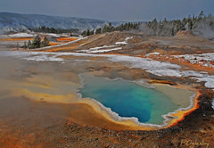 Heart Spring(The Crush Of Love) (P. Oglesby) Tags: snow mountains october steam 1001nights thermal hotsprings geysers yellowstonenp thehighlander godlovesyou uppergeyserbasin supershot anawesomeshot theunforgettablepictures platinumheartaward goldstaraward absolutelystunningscapes yourwonderland uppergeysertrail 1001nightsmagiccity photocontesttnc10