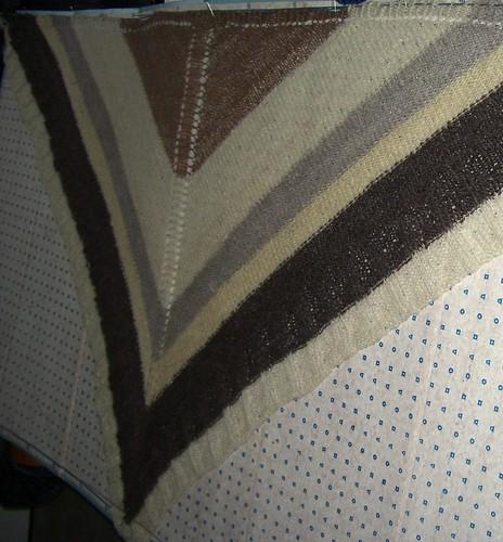 Hand spun shawl