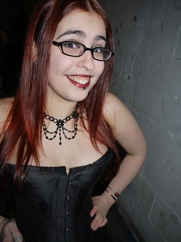 tits big Glasses and
