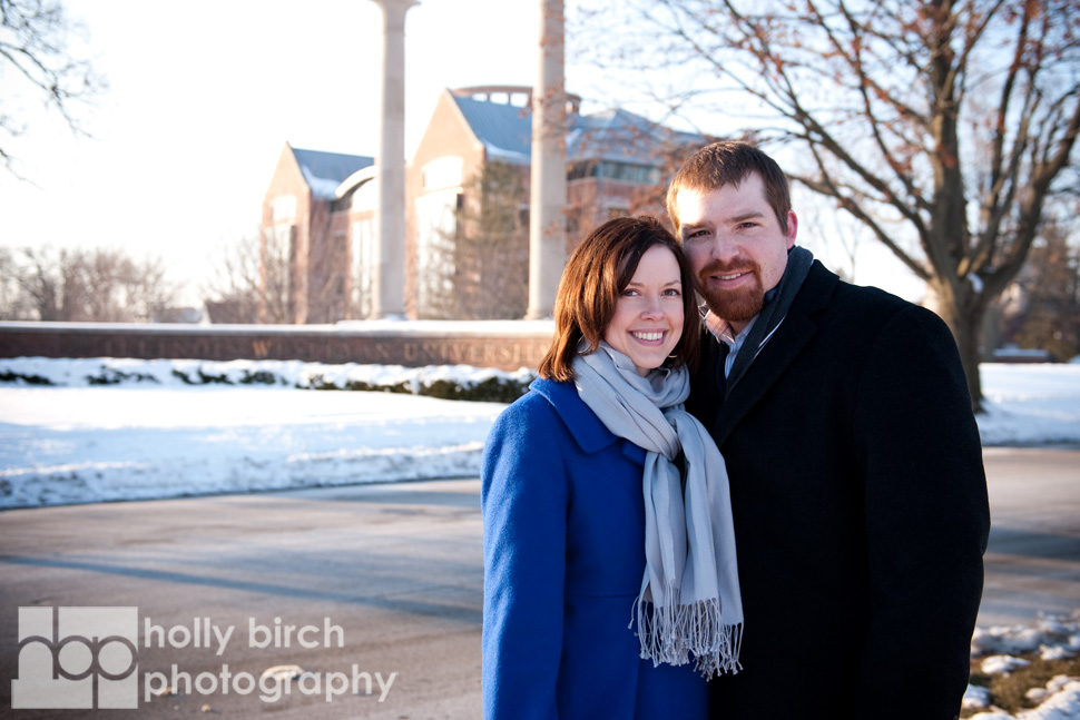 Snowy Engagement Session | Normal, IL photography