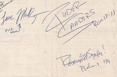 03/19/86 Mylon LeFevre & Broken Heart/Found Free @ Wadena, MN (Found Free Autographs)