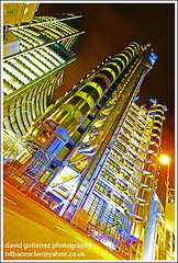 Its a Lloyds Architecture at Night - London (david gutierrez [ www.davidgutierrez.co.uk ]) Tags: road street city trip travel blue light vacation sky urban holiday color building london art tourism glass lamp colors architecture modern night composition buildings wonderful point geotagged photography photo europe cityscape colours view angle image artistic pov weekend gorgeous sony awesome centre capital perspective picture cities cityscapes officebuilding wideangle pic center structure architectural more nighttime 350 future stunning excellent nights metropolis unusual lovely alpha fabulous avenue lloyds dt municipality edifice f