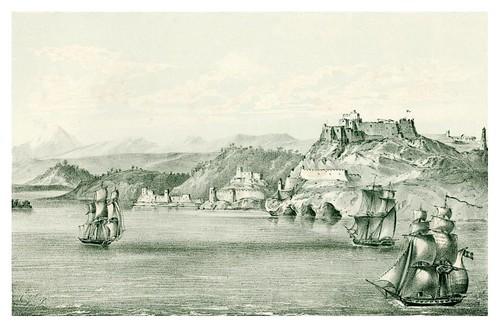 021- Morro y entrada al puerto de Santiago de Cuba-Álbum pintoresco de la Isla de Cuba- 1853