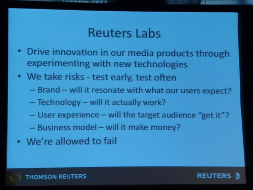 Reuters Labs drives media innovation by experimenting with new technologies