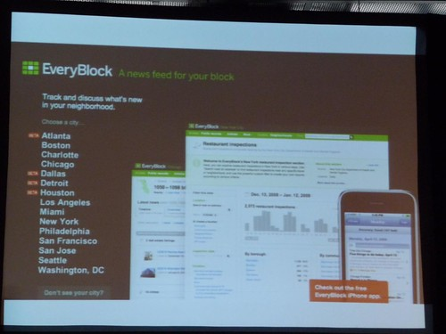 Everyblock.com lets you track and discuss what's new in your neighbourhood