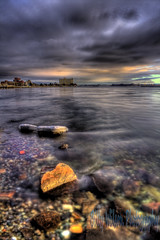 Sault Waterfront (Billy Wilson Photography) Tags: city sunset cloud lake ontario canada clouds digital canon river landscape eos rebel evening community rocks stream waterfront view cloudy atmosphere rainy riverbed boardwalk xs february soo northern hdr highdynamicrange goldenhour streambed saultstemarie northernontario algoma polarizingfilter bodyofwater tonemapped billywilson