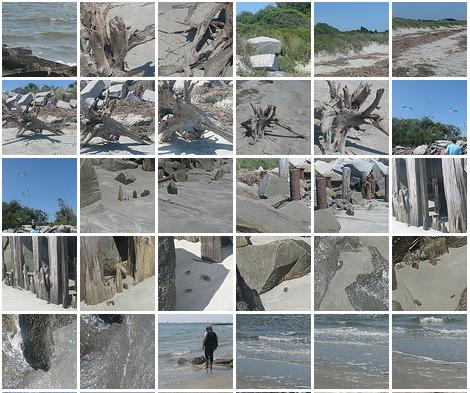 thumbnails of photos from photo walk at sullivans island, south carolina