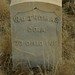 Headstone of Civil War Veteran William Thomas, Boise Barracks Military Cemetery, Boise, Id.
