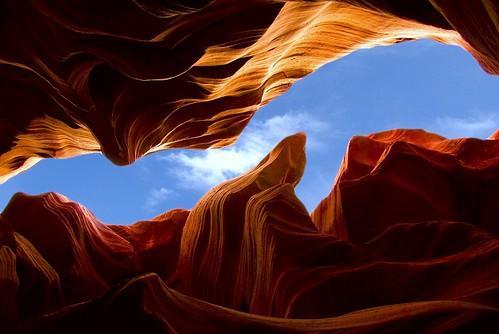 Looking up thru Antelope Canyon