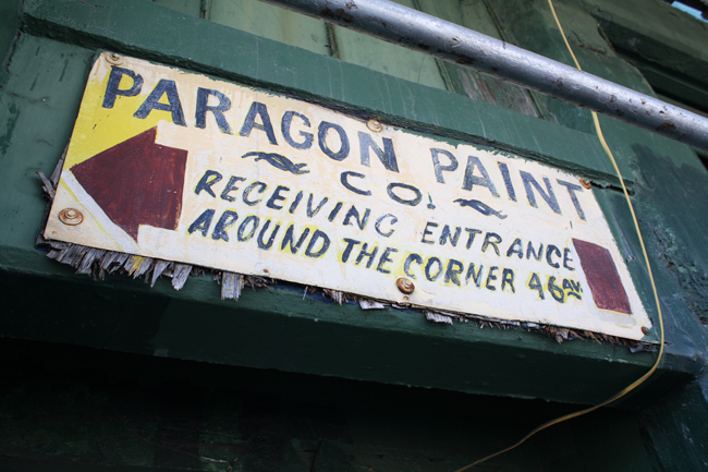 painted sign