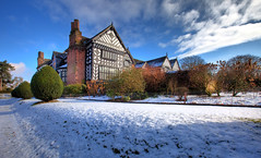 Speke Hall snow (John_Kennan) Tags: winter snow cold liverpool tudor nationaltrust hdr highdynamicrange merseyside speke spekehall