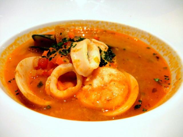 Zuppa di Pesce alla Marinara (Seafood Tomato and Saffron Soup)