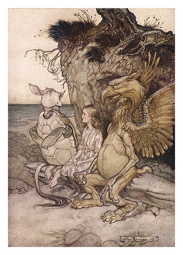 010-Lobster quadrille-Alice's adventures in Wonderland-1907- Arthur Rackham