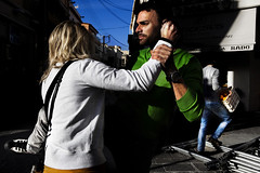 The kick (Vasilikos Lukas) Tags: street light color streetphotography greece 5d vasilikos rethimno