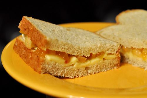 Brie Peach Sandwich