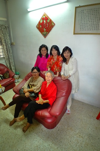 Mom, 1st Auntie, 3rd Auntie and 4th Auntie with Grandma