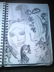 Sketches (Art Fountain) Tags: people fashion collage pencil drawings sketches coloured dollies doodling shading