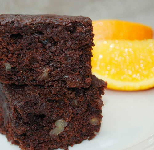 Orange Brownies CU