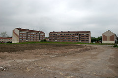 Toryglen Glasgow. (boneytongue) Tags: urban up buildings tv paint estate decay glasgow sony demolition advert council housing renovation failed bravia boarded viera shuttered