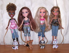 Bratz Pampered Pupz (Bratz UK) Tags: charlie sasha yasmin charli bratz cloe pampered pupz