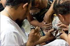 Focus on the Point (Ursula in Aus) Tags: tattoo thailand yantra tattooing waikhru nakhonpathom นครปฐม ประเทศไทย sakyant tattoofestival รอยสัก watbangphra nakhonchaisi earthasia nakhonchaisri วัดหลวงพ่อเปิ่น ครู รูปสัก วัดบางพระ ลายสัก สักยันต