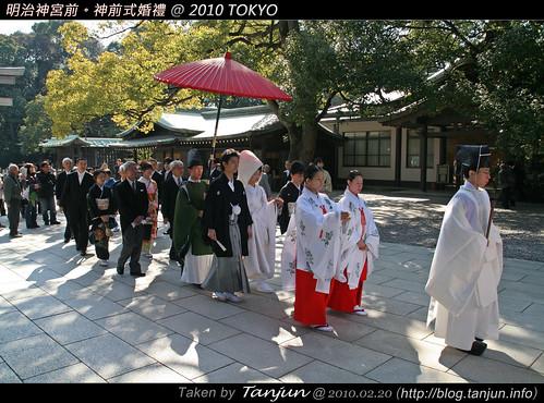 明治神宮前。神前式婚禮 @ 2010 TOKYO