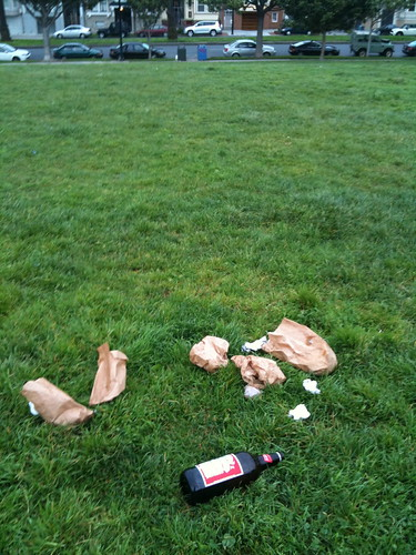 Garbage Strewn on Hipster Hill