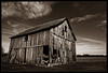 Old Indiana (Cygnus~X1 - Visions by Sorenson) Tags: old winter sky usa building field sepia architecture clouds barn rural canon landscape eos march wooden midwest unitedstates decay rustic indiana rochester explore nostalgic slats historical weathered decayed ef2470mmf28lusm 2010 midwestern 5dmkii craigsorenson