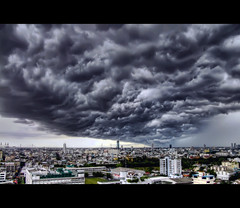 The Tempest | Bangkok (I Prahin | www.southeastasia-images.com) Tags: cloud storm black rain dark thailand flood wind foreboding bangkok dramatic explore monsoon tempest storms hdr ferocity explored platinumphoto platinumsuperstar