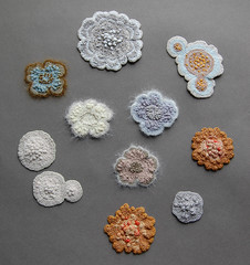 mould and lichen study (ELINtm) Tags: nature crochet faux handcrafted lichen mold etsy fiberart mould delicate crocheted freeform elinthomas calmairallice elinart elintm