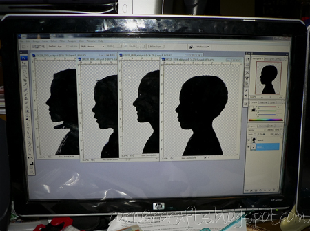 silhouette photoshop editing layout