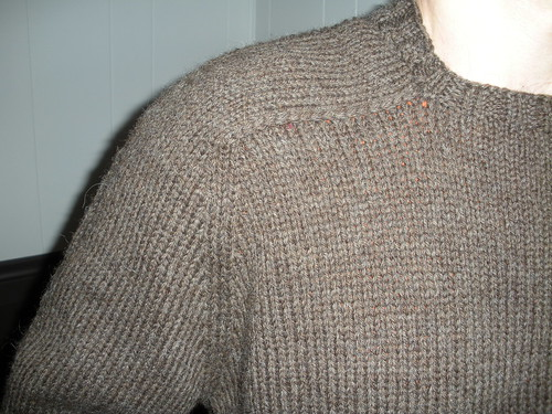 Troy's sweater shoulder front