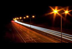 light trails (essexdiver) Tags: nightshot traffic lighttrails essex m25 sigma1020mm northockendon