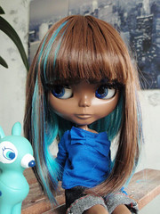 ...Blueberry muffin!! (astel83) Tags: black blythe abe custom tomate cerise sbl coolcat weft morganours reweft