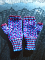 Mosaic Mitts (Ennirol) Tags: knitting knit knitted interweaveknits fingerlessgloves aurora8 ravelry mosaicmitts