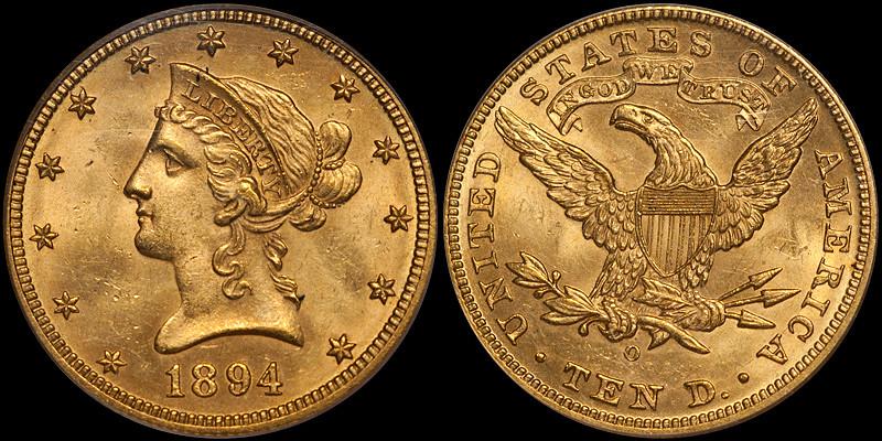 1894-O $10.00 PCGS MS63